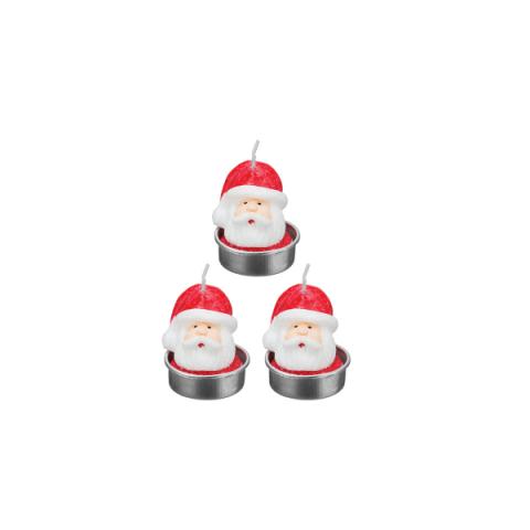 Vela 3D Natal Noel 5X4 Cm