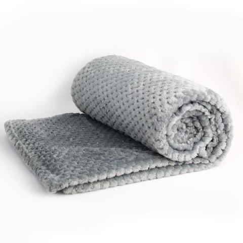 Cobertor Solteiro Soft Design Relevo Cinza Escuro