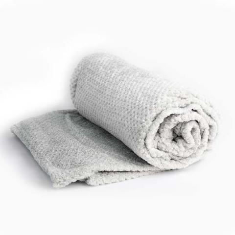 Cobertor Solteiro Soft Design Relevo Cinza Claro