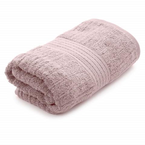 Toalha de Banho Gigante Fio Penteado Canelado 90x150 Cm Rosa Claro