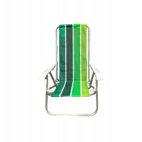 Cadeira Praia 4 Posições Em Alumínio