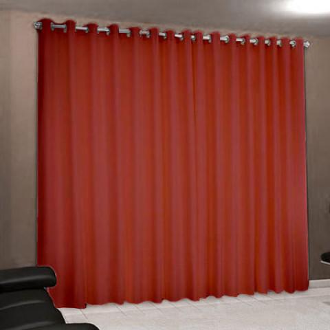Cortina Rústica Paris 300x240 Cm Vermelho