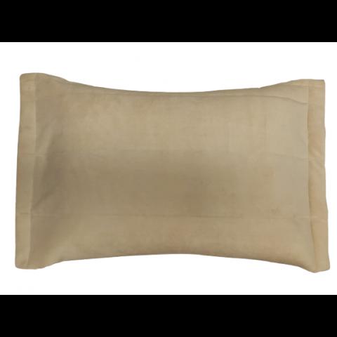 Porta Travesseiro Blend Malha Bege Ornamental
