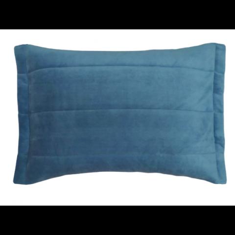 Porta Travesseiro Blend Malha Azul Provence