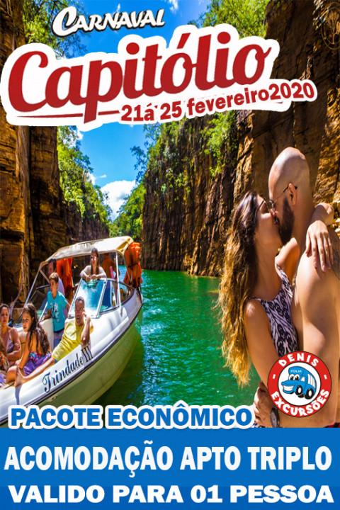 CAPITOLIO - CARNAVAL 2020 -  APTO TRIPLO -ECONOMICO -VALOR POR PESSOA