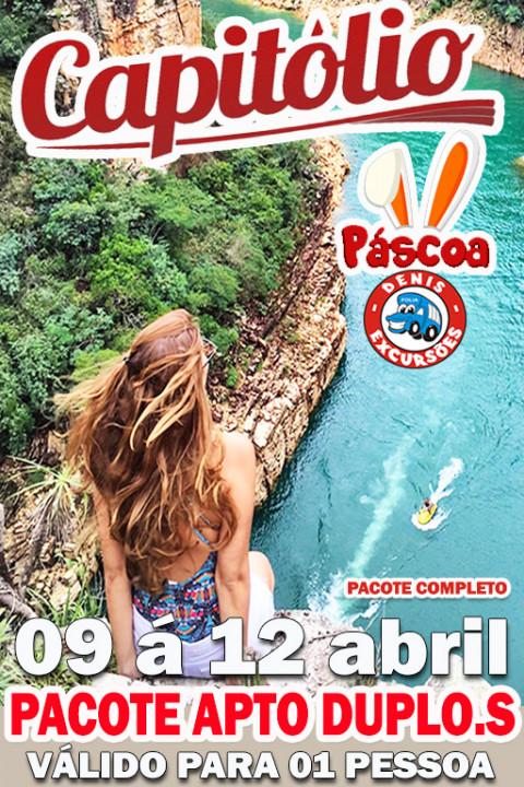 CAPITOLIO PASCOA - COMPLETO -PACOTE DUPLO SOLTEIRO - VALOR VALIDO PARA 01 PESSOA