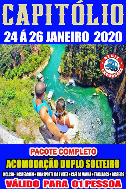 CAPITOLIO -24 A 26 JANEIRO 2020. -APTO DUPLO -COMPLETO-valor por pessoa