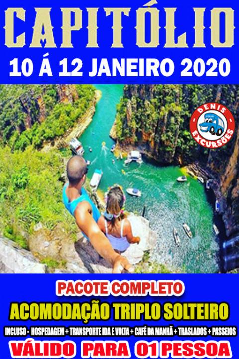 CAPITOLIO 10 A 12 JANEIRO  -APTO TRIPLO -COMPLETO-VALOR POR PESSOA