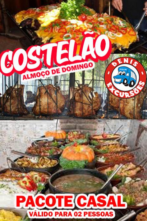 14/03 - COSTELÃO FOGO NO CHÃO ALMOÇO DOMINGO - COMBO CASAL