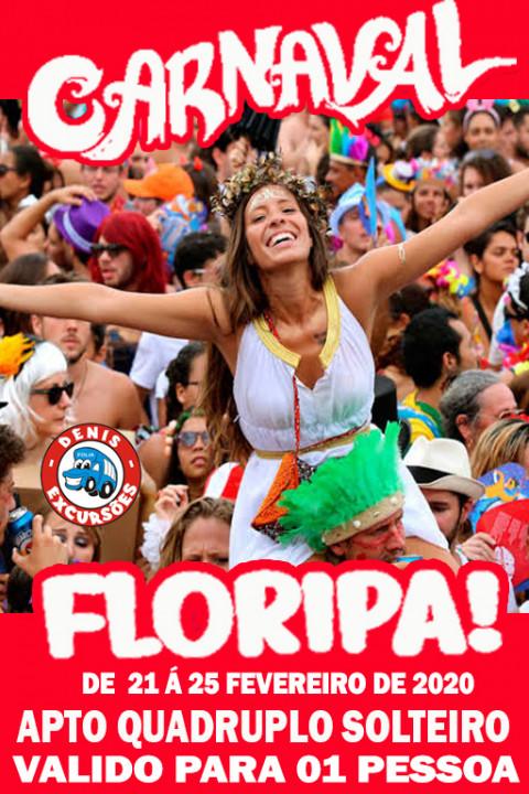 CARNAVAL EM FLORIPA 2020- ACOMODAÇÃO QUARTO QUADRUPLO  - VALOR POR PESSOA - 1* LOTE