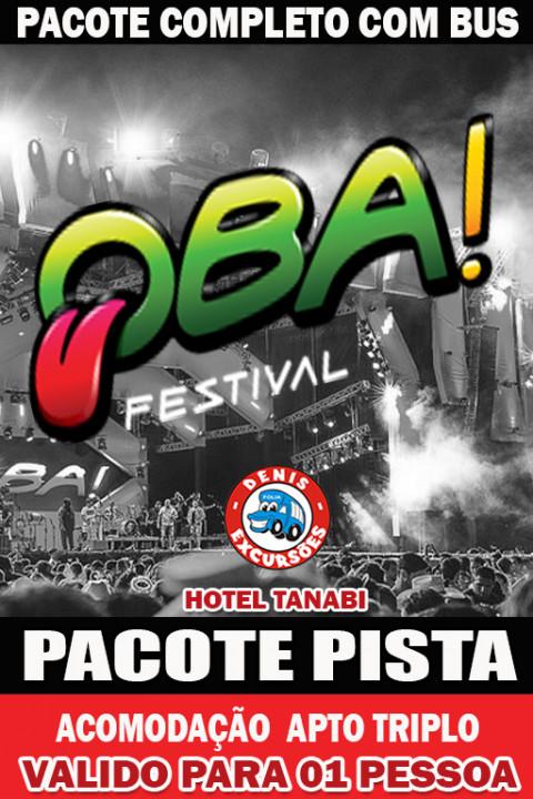 OBA 2020 -PACOTE COMPLETO  PISTA -APTO TRIPLO -VALOR POR PESSOA