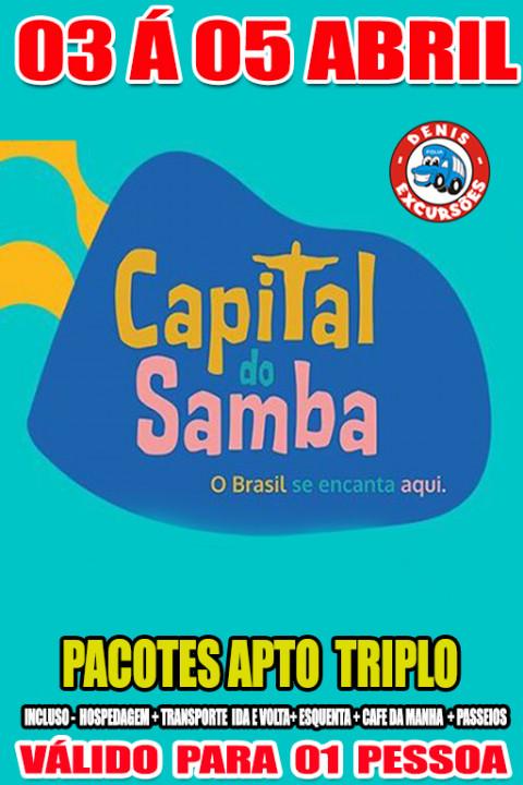 CAPITAL DO SAMBA - ACOMODAÇÃO APTO TRIPLO - VALOR POR PESSOA