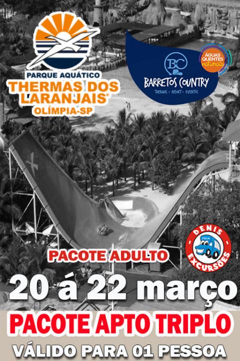 THERMAS +BARRETOS PARK -APTO TRIPLO SOLTEIRO - VALIDO PARA 01 PESSOA