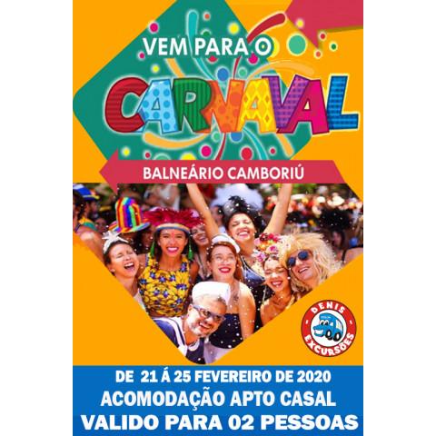CARNAVAL EM BALNEARIO - APTO CASAL  - SEM ABADA - VALIDO PARA 02 PESSOA