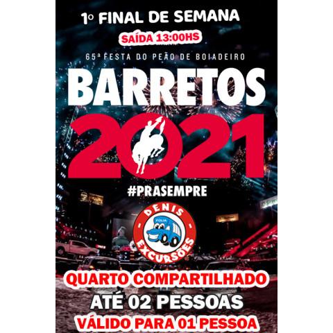 BARRETOS - 1º FINAL DE SEMANA (12:30) - APTO DUPLO - VALOR POR PESSOA
