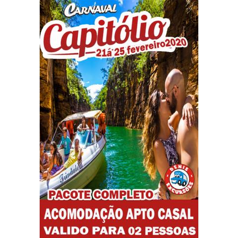 CAPITOLIO CARNAVAL 2020- COMPLETO -PACOTE CASAL - VALOR POR CASAL -02 PESSOAS