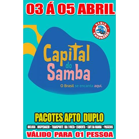 CAPITAL DO SAMBA - ACOMODAÇÃO APTO DUPLO - VALOR POR PESSOA