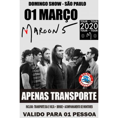 01/03 MARRON 5 - APENAS TRANSPORTE