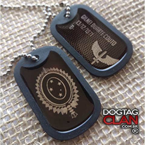 Dog Tag Aeronautica Gravação Com Seus Dados