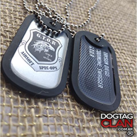 Dog tag airsoft Gravamos e personalizamos com seus dados e logo