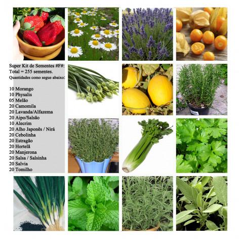 Super Kit Sementes #f#s Para Horta 15 Variedades