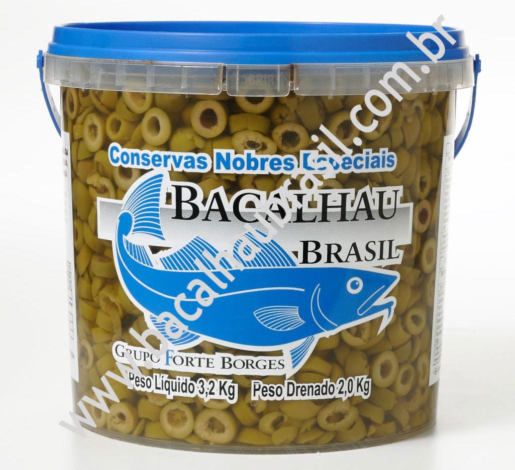 Azeitona Verde fatiada - Marca Bacalhau Brasil - Balde 2kg