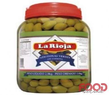 Azeitona Verde com caroço - LA RIOJA - Balde 2kg