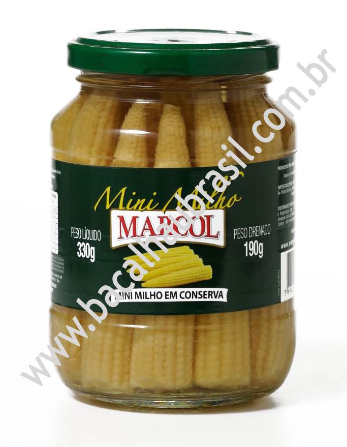 Mini Milho Verde - Marca Marcol - Vidro 190gr
