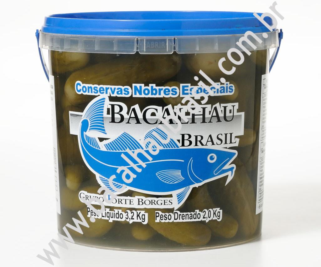 Pepino médio - Marca Bacalhau Brasil - Balde 2kg