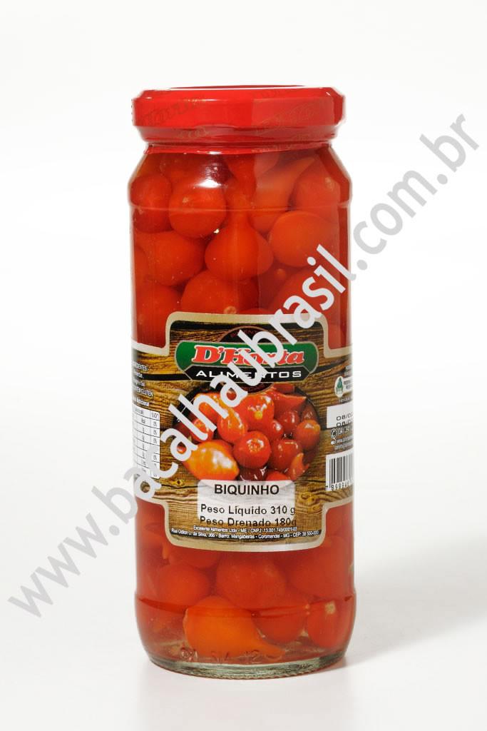 Pimenta Biquinho Vermelha– Marca D' Horta – Vidro 180gr