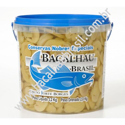 Cogumelo fatiado - Marca Bacalhau Brasil - Balde 1kg