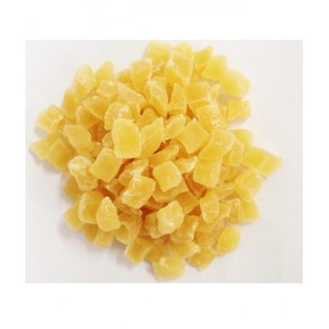 Abacaxi desidratado em cubos -  Pacote 500gr