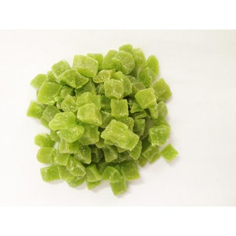 Abacaxi verde desidratado em cubos - Marca Frutexsa - Pacote 500gr