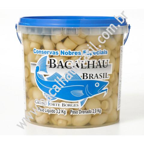 Cogumelo inteiro - Marca Bacalhau Brasil - Balde 1kg