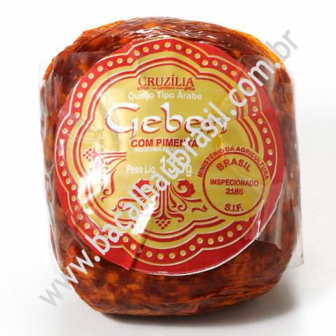 Queijo tipo árabe com Pimenta - Marca Cruzilia – Pacote 135gr
