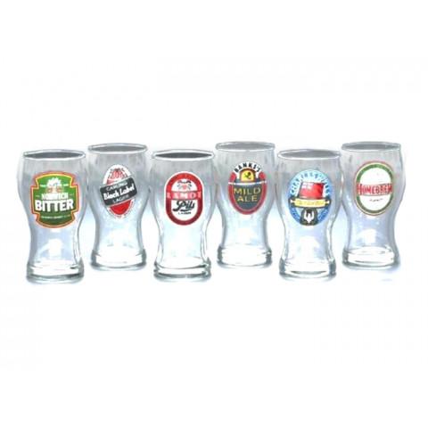Conjunto de 6 Copos Frevo Marcas de Cerveja - H Martin