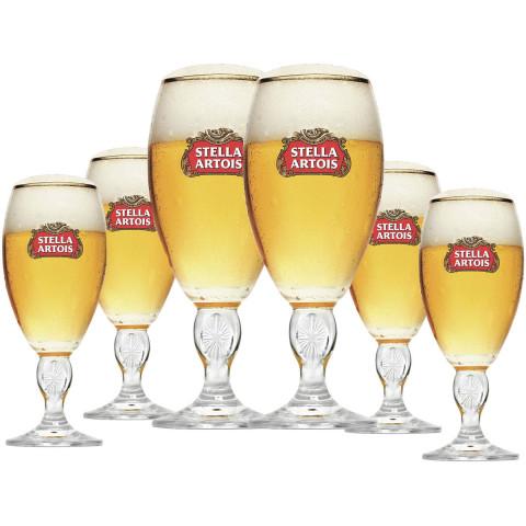 Jogo De 6 Taças De Cerveja Stella Artois 250ml - Globalização