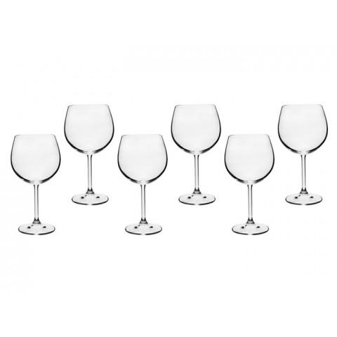 Jogo de Taças para Vinho de Cristal Bohemia 570ml