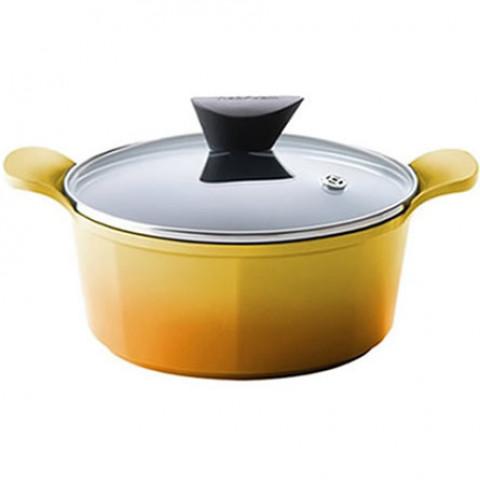 Panela Caçarola Venn De 28cm Amarela Neoflam
