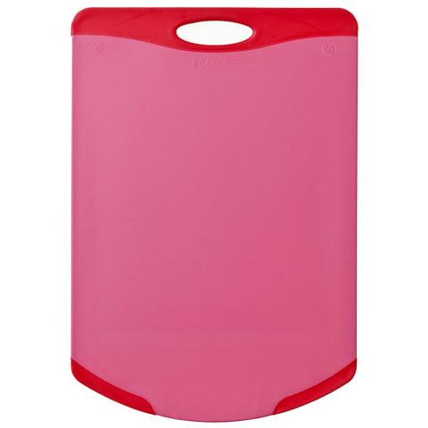 Tábua De Corte Flutto Vermelha Com Canto Redondo 368x254mm Neoflam