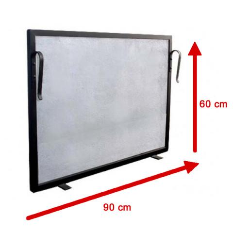 Tela Para Lareira Em Ferro - 90x60 Cm