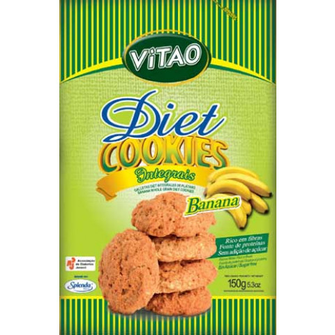 Cookies Diet Integral de Banana - VITAO - 150gr.