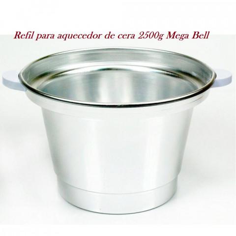 Refil de Alumínio para Aquecedor de cera Matic 2500g Mega Bell