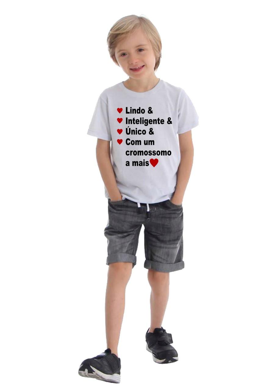 Camiseta Personalizada Síndrome de Down - Escolha O Modelo