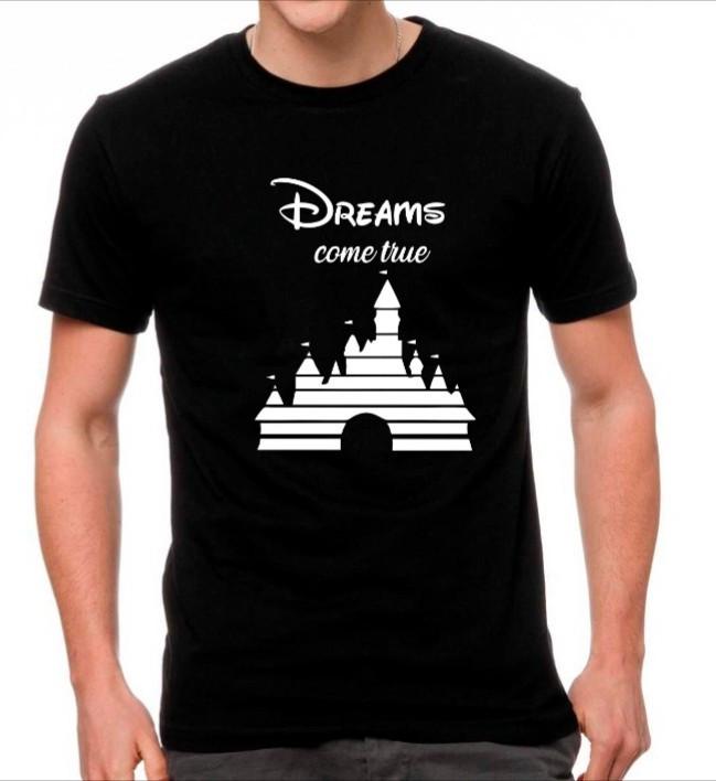 Camiseta Personalizada Preta Dreams Come True