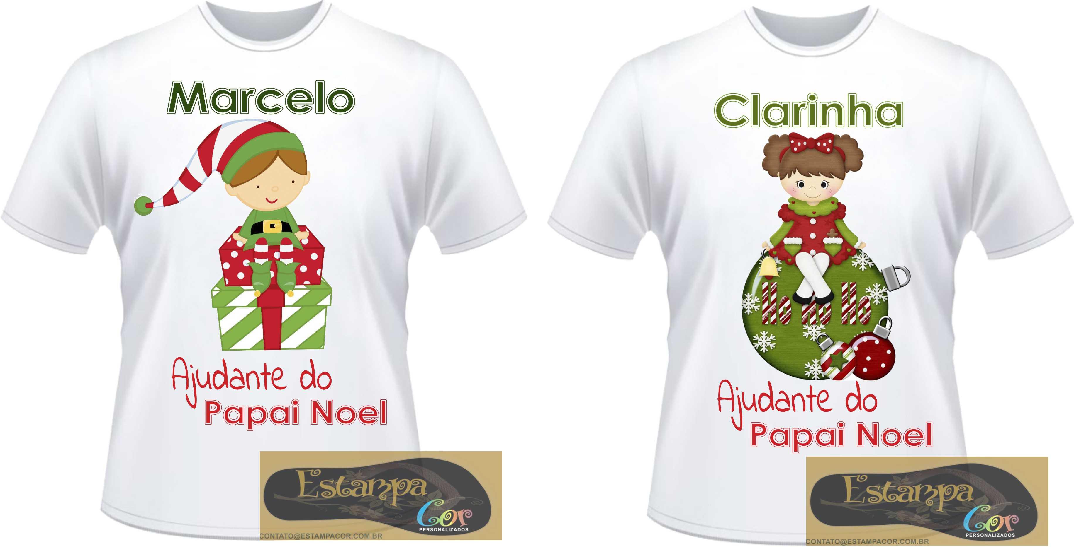 Camiseta Personalizada Ajudante do Papai Noel
