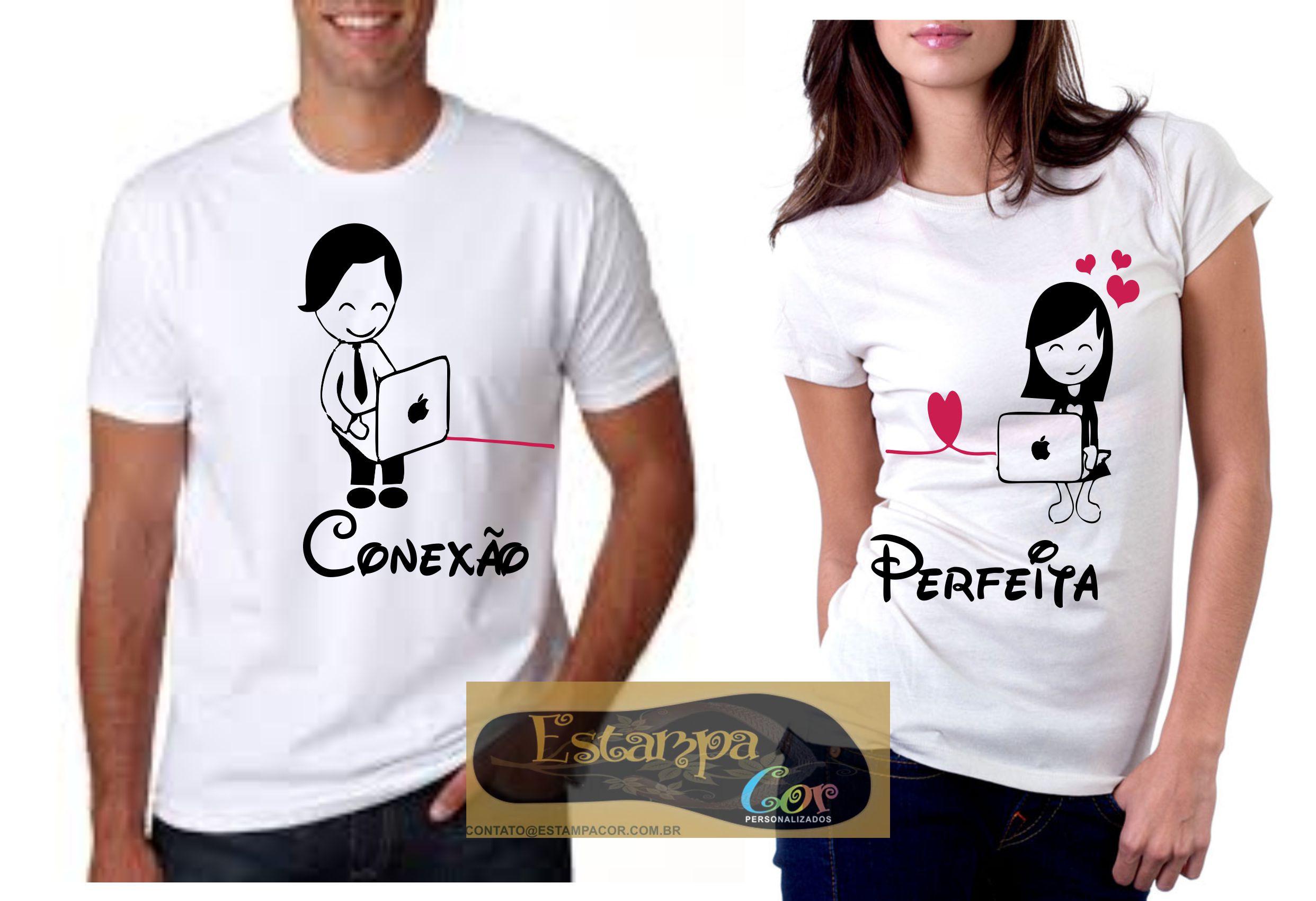 Camiseta Personalizada Conexão Perfeita