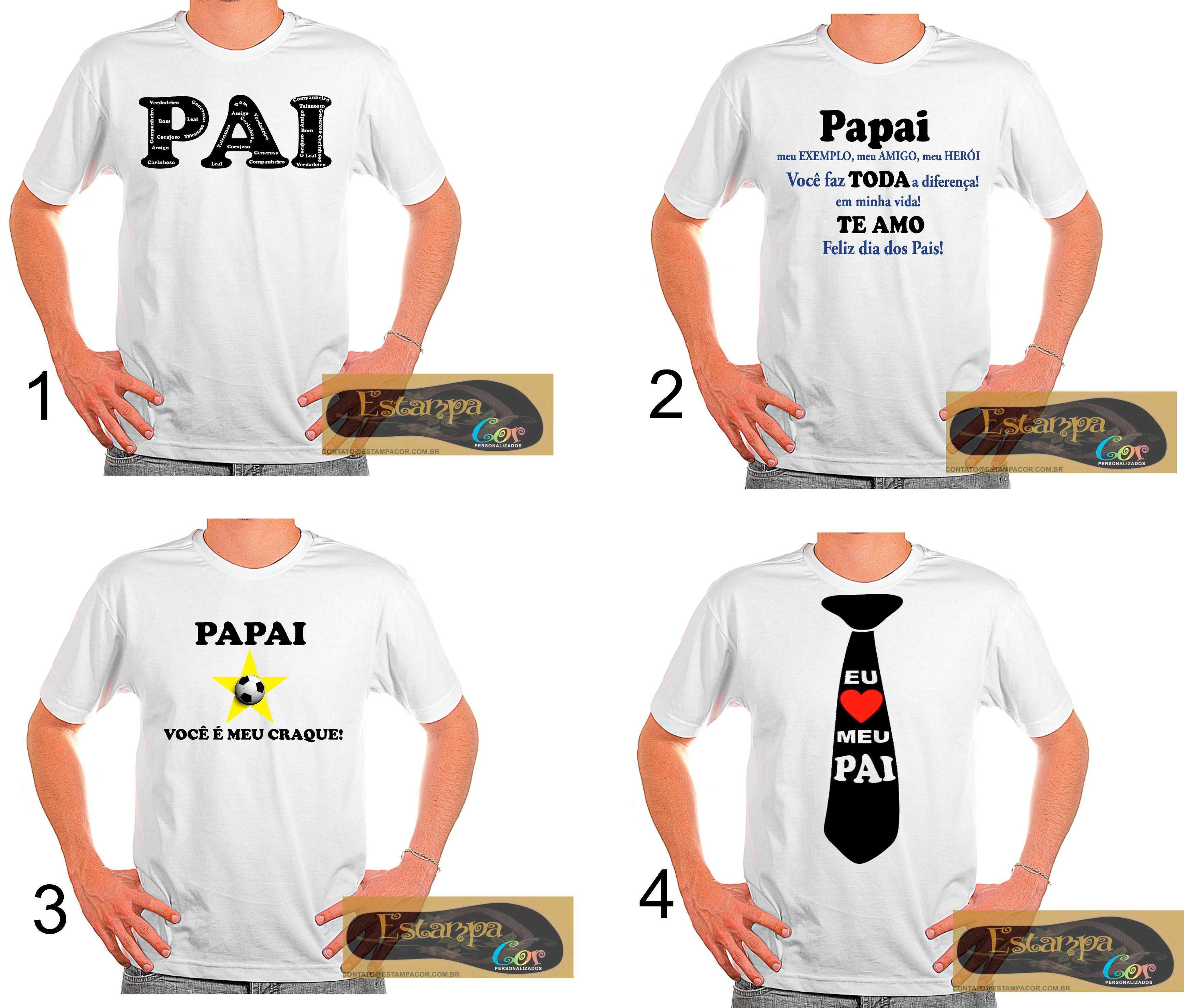 Camiseta Personalizada Dia dos Pais