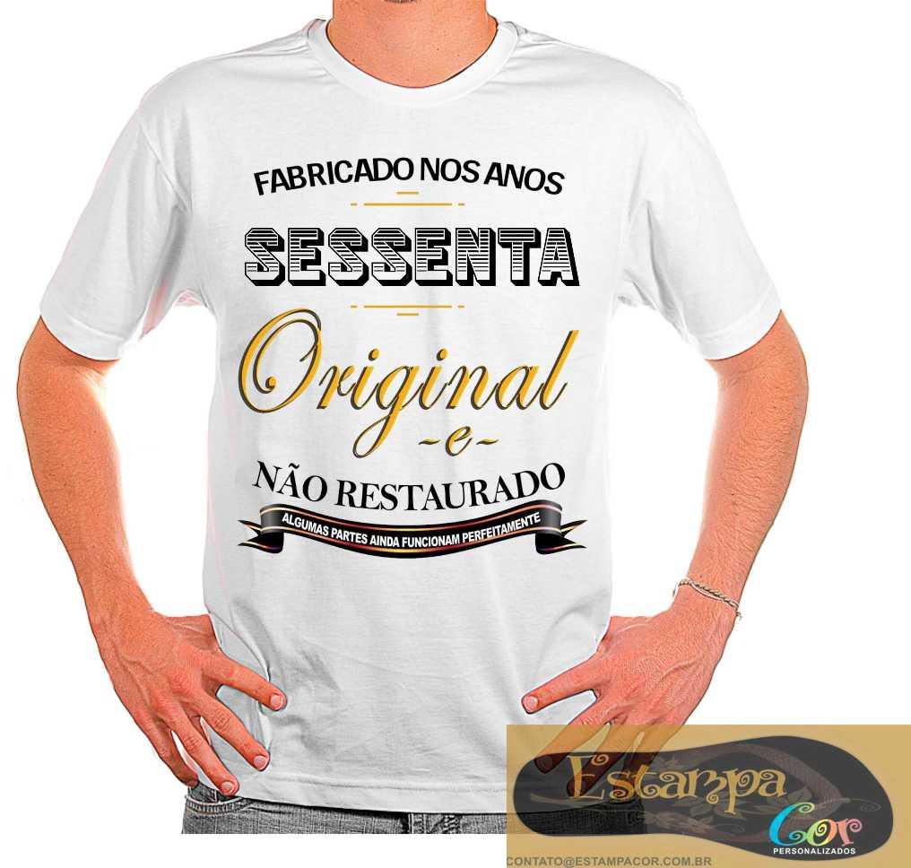 Camiseta Personalizada Fabricado nos Anos 40 50 60 70 80 90