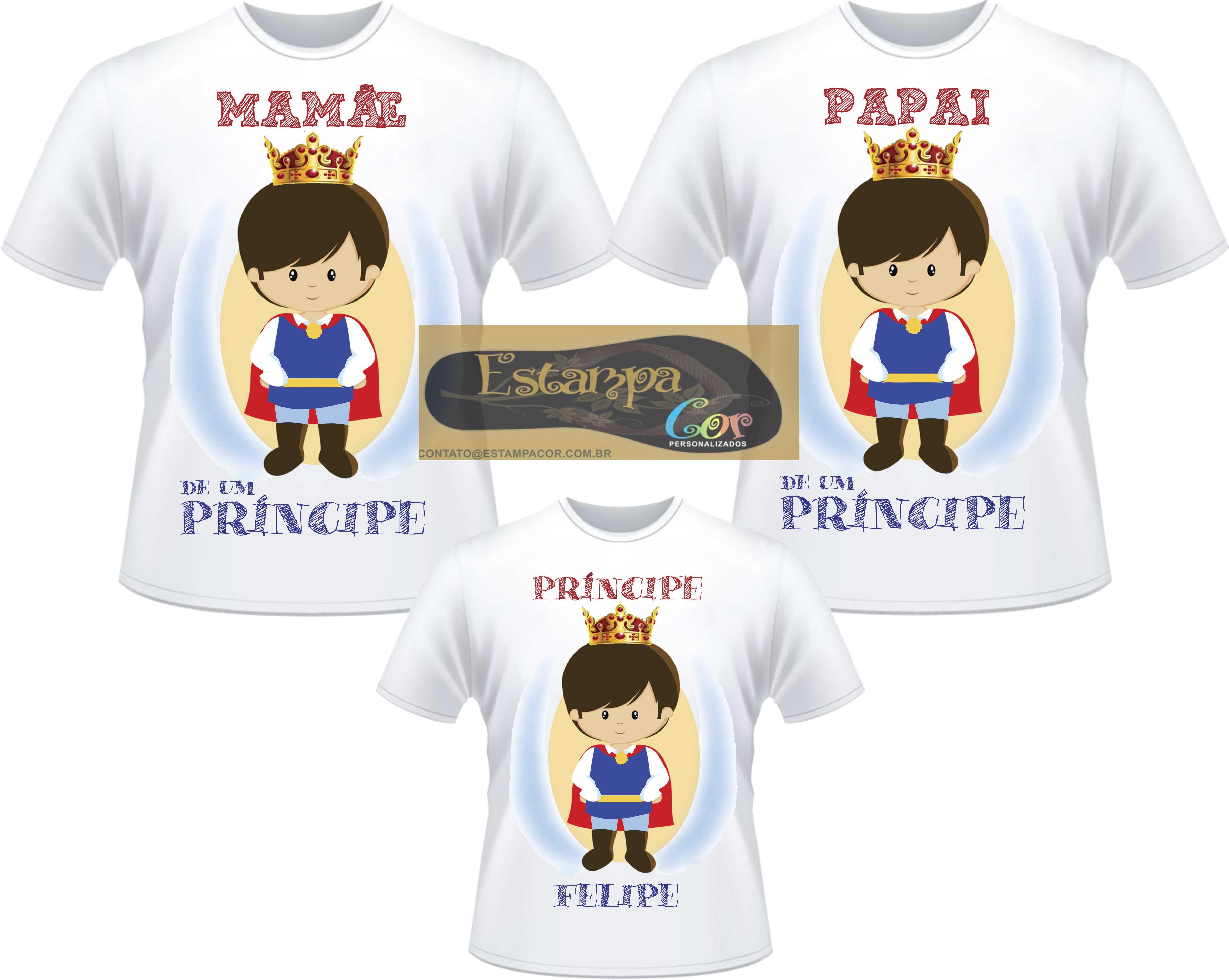 Camiseta Personalizada Família Pequeno Príncipe (monte o seu Kit)